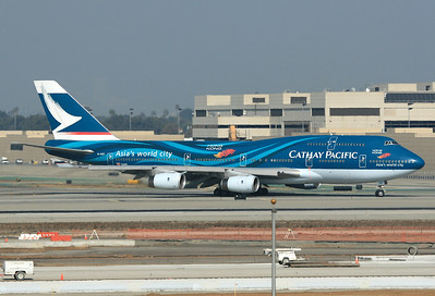 Cathay Pacific Airways Boeing 747-467 Los Angeles - International (LAX / KLAX) USA - California, November 21st, 2006 B-HOY (cn 25351/887) Asia's World City.