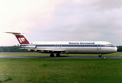 Bavaria Germanair BAC 111-524FF One-Eleven 	 Nuremberg (NUE / EDDN) Germany, May 1977  D-AMAT (cn 235) Just arrived from a summer charter destination.