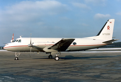 Berlin Regional Grumman G-159 Gulfstream I 	 Nuremberg (NUE / EDDN) Germany, December 13, 1987  N750BR (cn 99) Came in for the famous Christmas Market. Exactly 11 months later this aircraft crashed without fatalities at Niedernberg, Germany, running out of fuel. (Nov 13th, 1988)