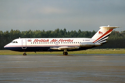 British Air Ferries - BAF BAC 111-201AC One-Eleven	Nuremberg (NUE / EDDN) Germany, September 1991 Reg: G-DBAF  Cn: 011