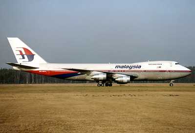 Malaysia Airlines Boeing 747-219B Nuremberg (NUE / EDDN) Germany, February 1992 Reg: 9M-MHH  Cn: 22791/568 Diversion FRA