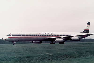 Capitol Intl. Airways McDonnell Douglas DC-8-63CF  	Nuremberg (NUE / EDDN) Germany, October 6, 1976 Reg: N910CL  Cn: 46094/482 US troop charter flight.