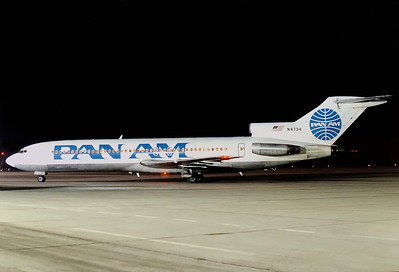 Pan American World Airways - Pan Am Boeing 727-235  	Nuremberg (NUE / EDDN) Germany, February 1988 Reg: N4734  Cn: 19454/509