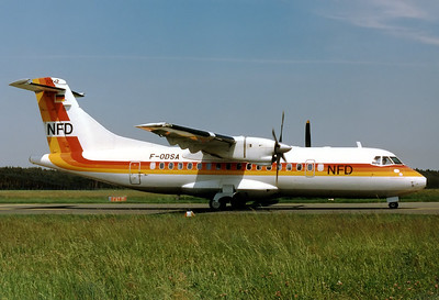 NFD - Nurnberger Flugdienst ATR-42-300 Nuremberg (NUE / EDDN) Germany, August 1987 Reg: F-ODSA Cn: 011 At that time the 1st ATR for NFD, will become D-BAAA very soon.