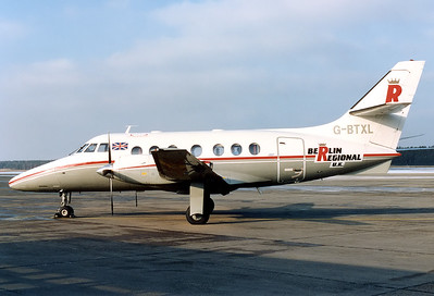 Berlin Regional U.K. British Aerospace BAe-3100 Jetstream 31 	Nuremberg (NUE / EDDN) Germany, December 13, 1987 Reg: G-BTXL  Cn: 621 Operating a charter from Berlin Tegel (TXL) to NUE for the famous Christmas Market.