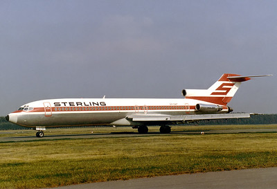 Sterling Airways Boeing 727-2J4/Adv  	Nuremberg (NUE / EDDN) Germany, July 1988 Reg: OY-SAT  Cn: 20766/993