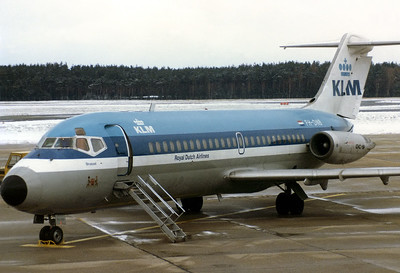 KLM - Royal Dutch Airlines Douglas DC-9-15 Nuremberg (NUE / EDDN) Germany, November 30, 1980 Reg: PH-DNB  Cn: 45719/18 Diverted into NUE due to heavy snowfall at MUC-Riem.