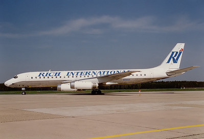 Rich International Airways McDonnell Douglas DC-8-62  	Nuremberg (NUE / EDDN) Germany, May 1995 Reg: N772CA  Cn: 46131/517