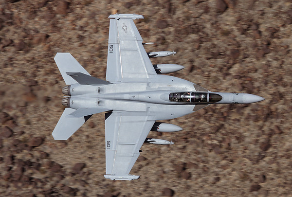 USA - Navy Boeing EA-18G Growler Off-Airport - Rainbow Canyon area USA - California, November 22, 2011 166946 / XE-501 A Growler on the prowl...... My first ever picture of a Growler. The crew of VX-9 Vampires out of China Lake was flying very low and fast through the narrow Canyon, a sight and sound to remember.