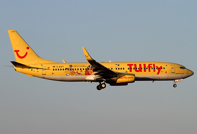 TUIfly Boeing 737-8K5 Nuremberg (NUE / EDDN) Germany, February 26, 2015 Reg: D-AHFT Cn: 30413/636 NUE Albrecht Dürer airport is celebrating its 60th birthday in 2015. Famous Albrecht Dürer and Kiexi decals have been applied to this TUI Fly 737.