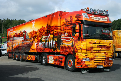 20090531: Truckerfest 2009, DAF XF amazing colours of Holger Morgenstern Transporte.