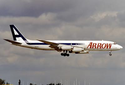 Arrow Air McDonnell Douglas DC-8-62(F) Miami - Intl.  (MIA / KMIA) USA - Florida, January 2000 Reg: N1808E  Cn: 46105/494 Ex Braniff