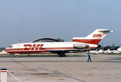 DHL (DHL Airways) Boeing 727-25(F)  Miami - Intl. (MIA/ KMIA) USA - Florida, April 1989 Reg: N238DH  Cn: 18275/101