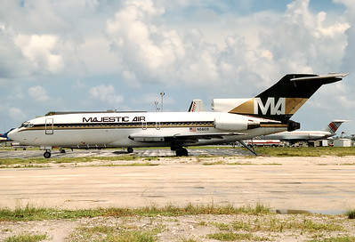 Majestic Air Boeing 727-51  	Fort Lauderdale - Hollywood Intl. (FLL / KFLL) USA - Florida, September 1989 Reg: N5609  Cn: 18806/188 This ex Carnival Airlines B727 ended up as an artifical reef in Biscayne Bay!