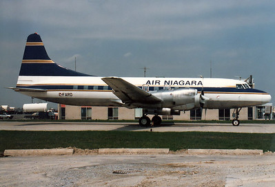 Air Niagara Convair 580  Toronto - Lester B. Pearson International  (YYZ / CYYZ) Canada - Ontario, May 1989 Reg: C-FARO  Cn: 382 Taxiing towards the northern ramp.