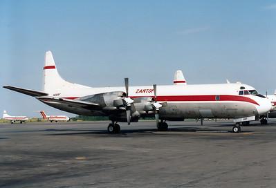 Zantop Int. Airlines Lockheed L-188C(F) Electra  Detroit - Willow Run (YIP / KYIP) USA - Michigan, June 1989 Reg: N289F  Cn: 1110