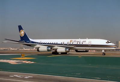 MGM Grand Air McDonnell Douglas DC-8-62H  Los Angeles - International (LAX / KLAX) USA - California, October 1991 Reg: N801MG  Cn: 45986/379