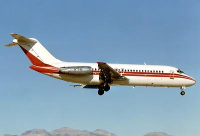 US Department of Energy Douglas DC-9-15RC  Las Vegas - McCarran International (LAS / KLAS) USA - Nevada, November 1994 Reg: N79SL  Cn: 47011/102 Rarely seen aircraft at that time, ex Continental.