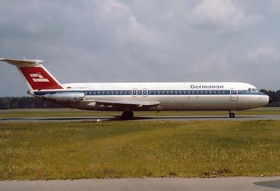 Germanair BAC 111-524FF One-Eleven  Nuremberg (NUE / EDDN) Germany, May 1976 Reg: D-AMAT  Cn: 235