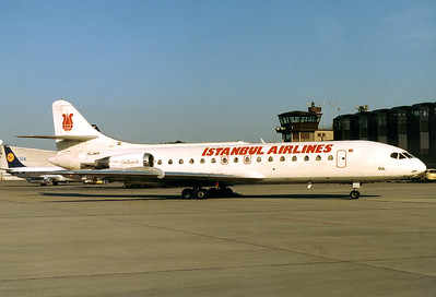 Istanbul Airlines Sud SE-210 Caravelle 10B1R  Nuremberg (NUE / EDDN) Germany, June 1988  TC-AKA (cn 239) Thanks to Verkehrsabteilung (operations) Nürnberg for their kind assistance to get this ramp shot done on a sunny and warm summer evening.