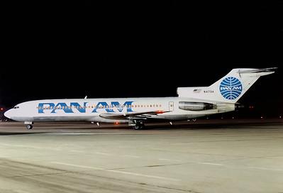 Pan American World Airways - Pan Am Boeing 727-235  Nuremberg (NUE / EDDN) Germany, February 1988 Reg: N4734  Cn: 19454/509