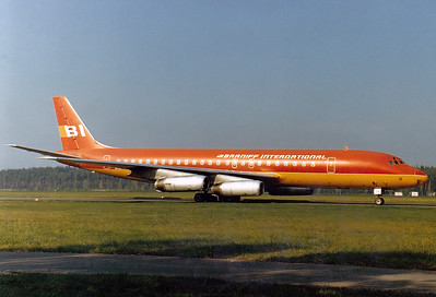 Braniff International Airways McDonnell Douglas DC-8-62  Nuremberg (NUE / EDDN) Germany, October 11, 1978  N1808E (cn 46105/494)