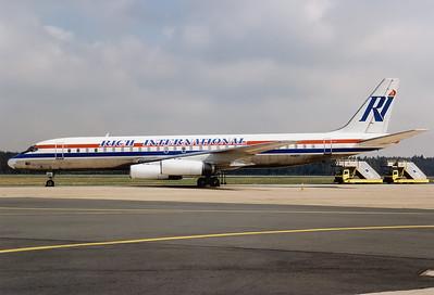 Rich International Airways McDonnell Douglas DC-8-62  Nuremberg (NUE / EDDN) Germany, April 7, 1994 Reg: N1805  Cn: 45899/304