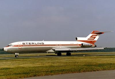 Sterling Airways Boeing 727-2J4/Adv  Nuremberg (NUE / EDDN) Germany, July 1988 Reg: OY-SAT  Cn: 20766/993