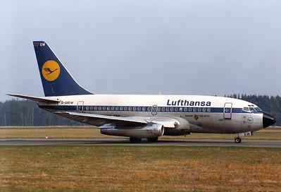 Lufthansa  Boeing 737-130   Nuremberg (NUE / EDDN)  Germany, April 2, 1981  D-ABEW (cn 19033/120) 'Bayreuth'