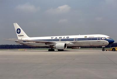 Varig Boeing 767-341/ER  Nuremberg (NUE / EDDN) Germany, May 1993 Reg: PP-VOI  Cn: 24752/289 Varig offered a 2-weekly service to Brasil from my home airport.