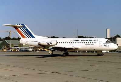 Air France (TAT - Touraine Air Transport) Fokker F-28-1000 Fellowship  Nuremberg (NUE / EDDN) Germany, June 3, 1986 Reg: F-GBBT  Cn: 11052