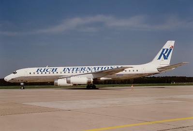 Rich International Airways McDonnell Douglas DC-8-62  Nuremberg (NUE / EDDN) Germany, May 1995 Reg: N772CA  Cn: 46131/517