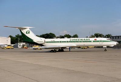 Greenair Tupolev Tu-134A-3  Nuremberg (NUE / EDDN) Germany, August 1990 Reg: TC-GRE  Cn: 66120
