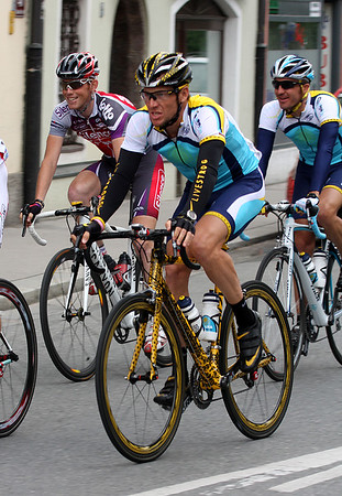 Innsbruck, Austria, May 15th, 2009: Lance Armstrong (Astana) in the streets of Innsbruck. GIRO d'Italia 2009